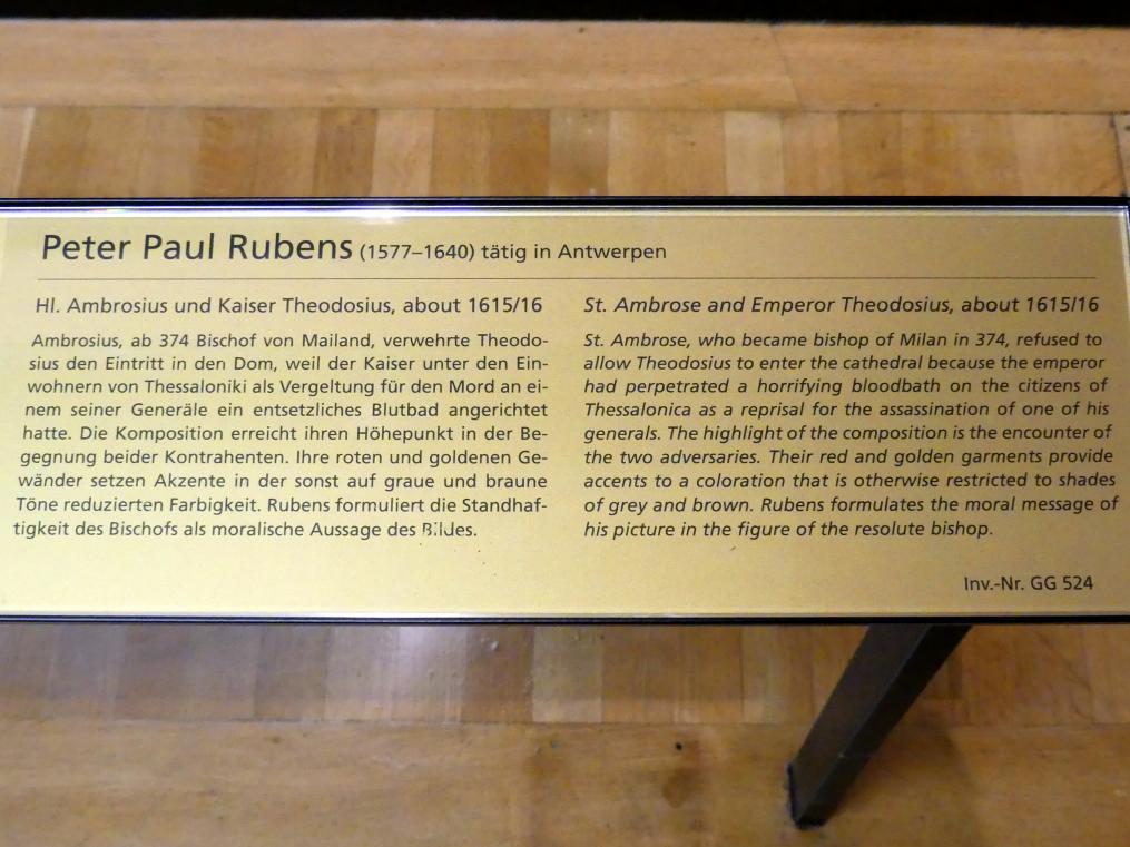 Peter Paul Rubens: Hl. Ambrosius und Kaiser Theodosius, Um 1615 - 1616