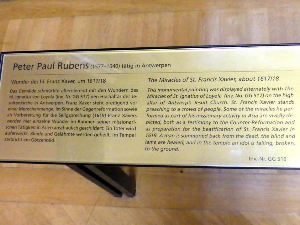 Peter Paul Rubens: Wunder des hl. Franz Xaver, um 1617 - 1618, Bild 2/2