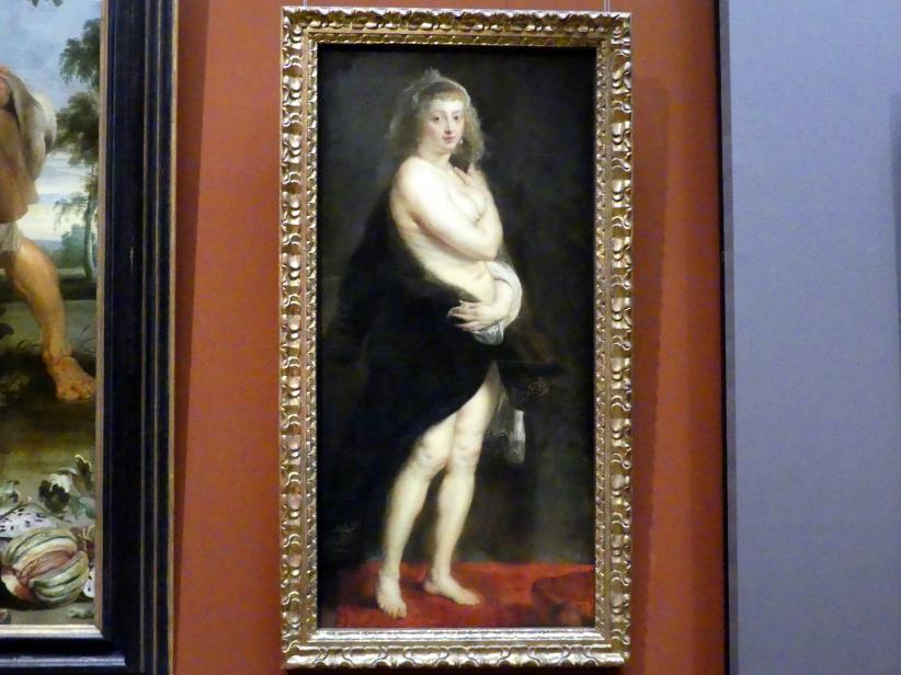 """Peter Paul Rubens: Helena Fourment (""""Het Pelsken""""), um 1636 - 1638"""
