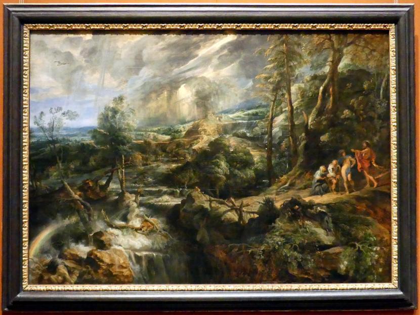 Peter Paul Rubens: Gewitterlandschaft mit Philemon und Baucis, um 1625