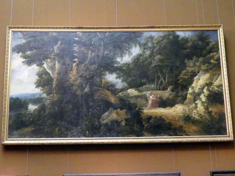 Jacques d'Arthois: Große Waldlandschaft mit dem hl. Francisco Borja, 1660 - 1670