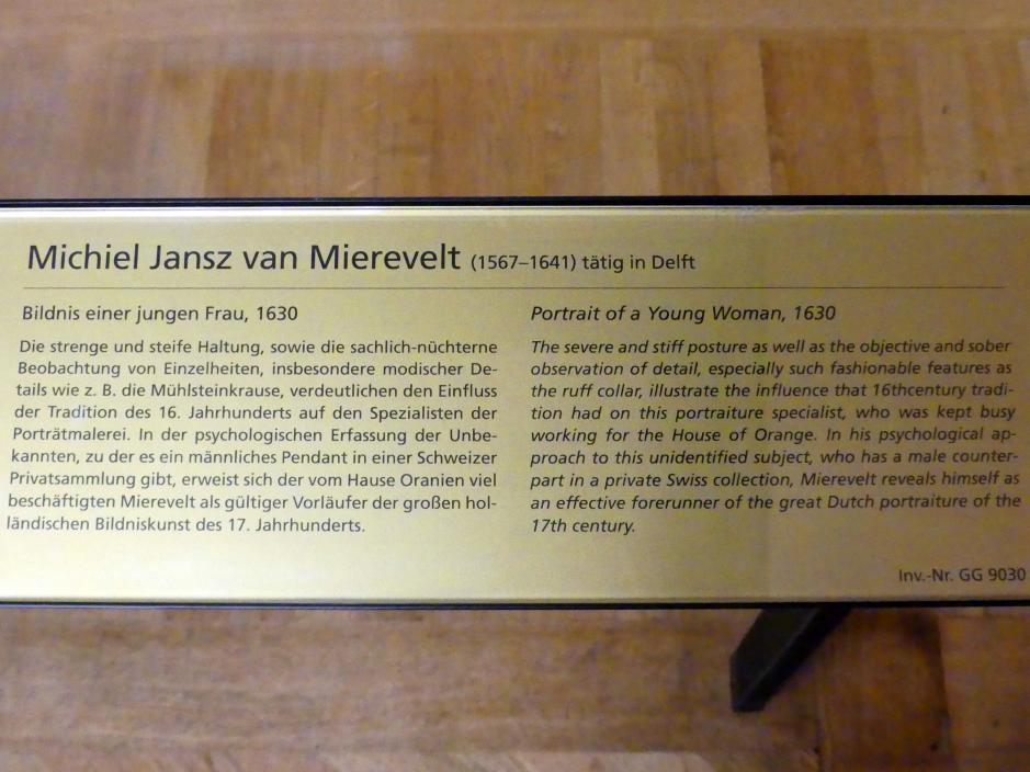 Michiel van Mierevelt: Bildnis einer jungen Frau, 1630, Bild 2/2