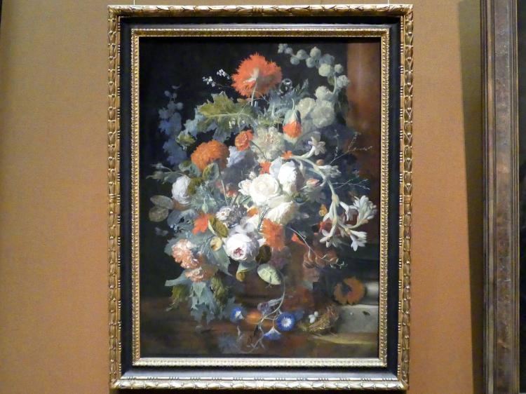 Jan van Huysum: Blumenstrauß bei einer Säule, 1. Hälfte 18. Jhd.