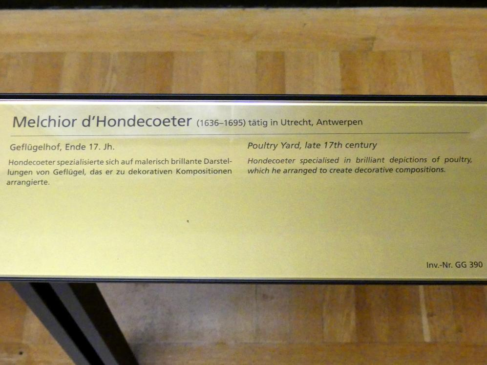 Melchior de Hondecoeter: Geflügelhof, Ende 17. Jhd., Bild 2/2