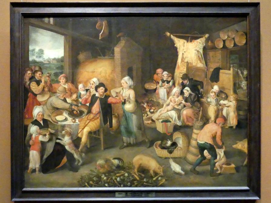 Martin van Cleve: Bauernstube mit vornehmen Besuchern, Um 1566