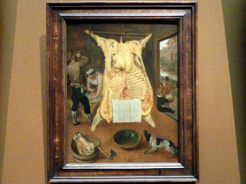 Martin van Cleve: Ausgeweideter Ochse, 1566
