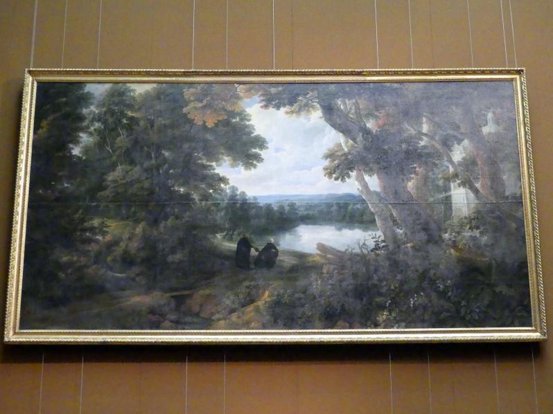 Jacques d'Arthois: Große Waldlandschaft mit dem hl. Stanislaus Kostka, 1660 - 1670
