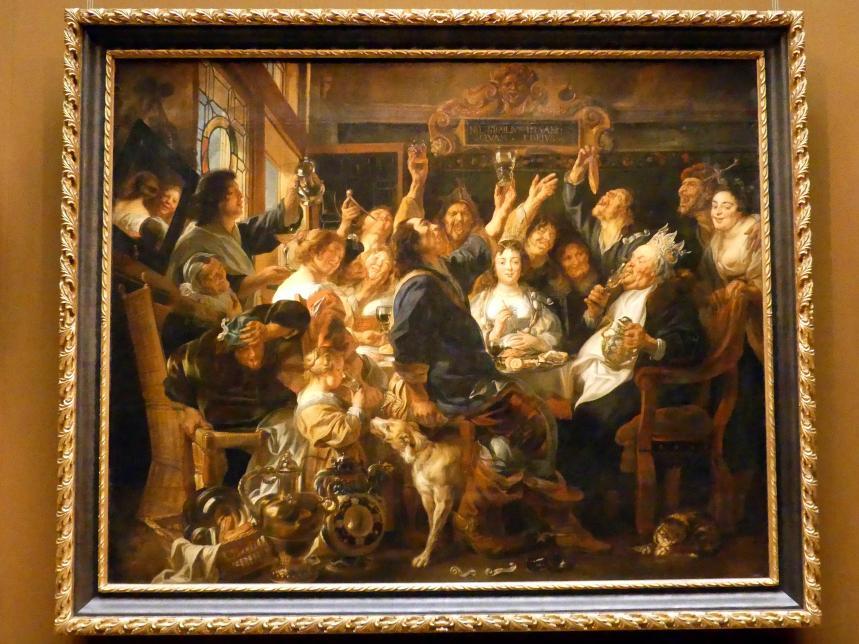 Jacob Jordaens: Fest des Bohnenkönigs, um 1640 - 1645