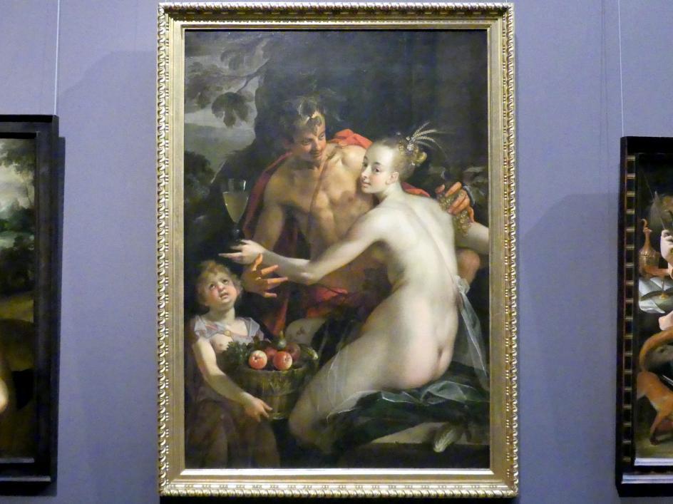 Hans von Aachen: Bacchus, Ceres und Amor, um 1600