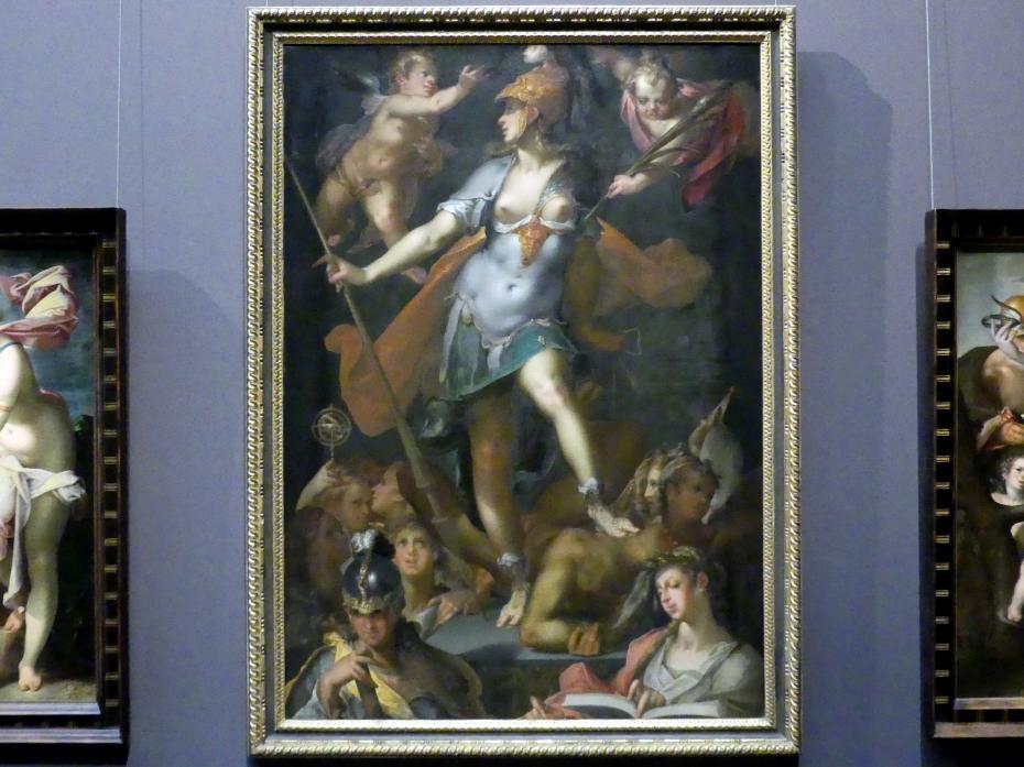 Bartholomäus Spranger: Minerva als Siegerin über die Unwissenheit, um 1593