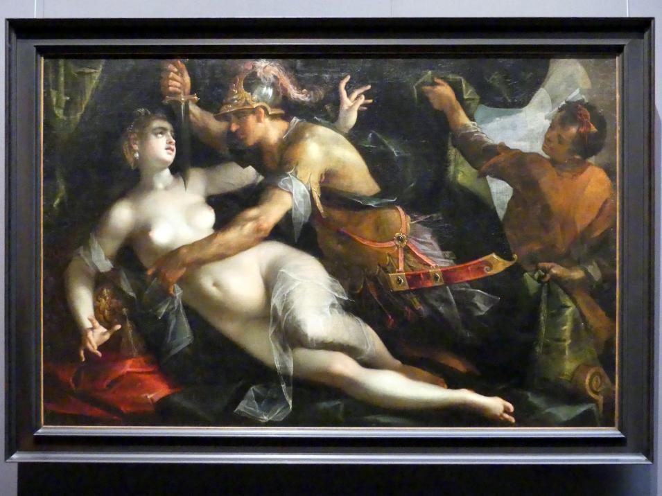 Hans von Aachen: Tarquinius und Lucretia, um 1600, Bild 1/2