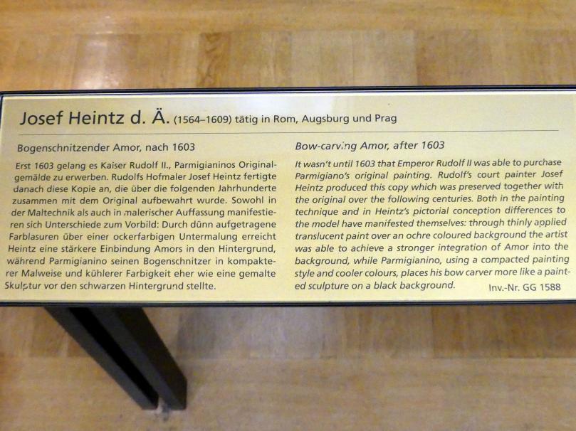 Joseph Heintz der Ältere: Bogenschnitzender Amor, nach 1603, Bild 2/2
