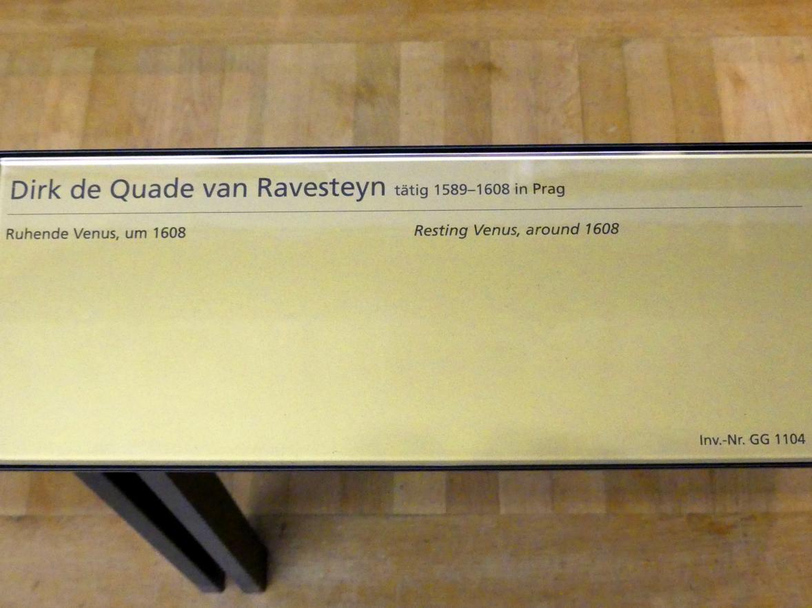 Dirck de Quade von Ravesteyn: Ruhende Venus, Um 1608