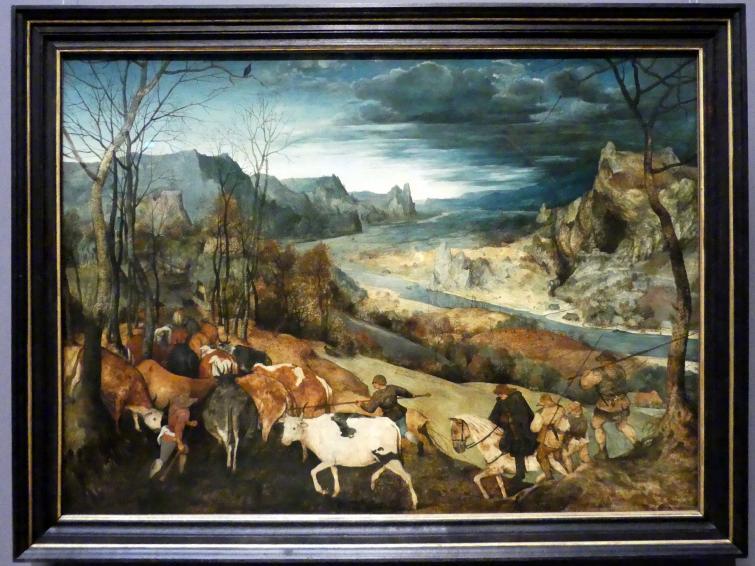 Lucas van Valckenborch: Gebirgslandschaft mit räuberischem Überfall und Stuckofen, Um 1585