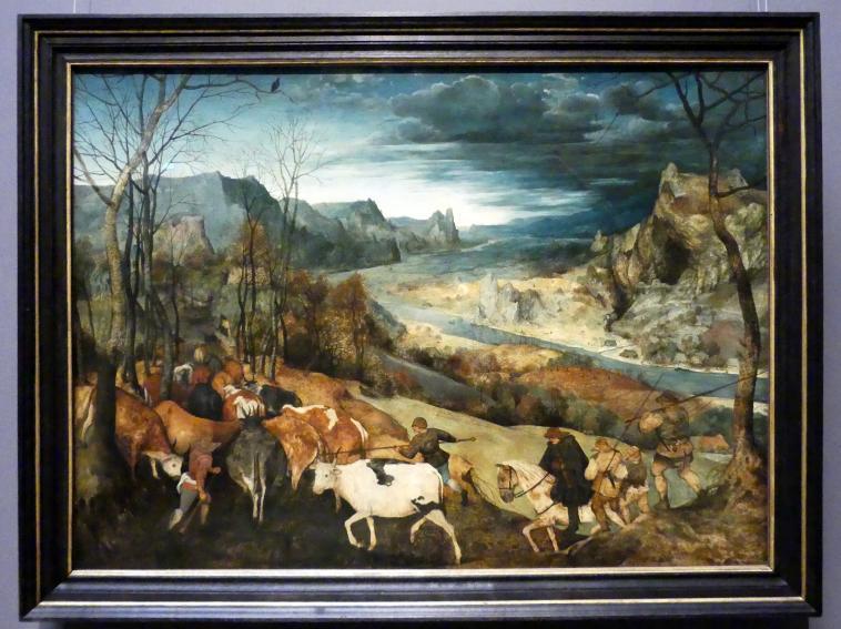 Pieter Brueghel der Ältere (Bauernbrueghel): Heimkehr der Herde (Herbst), 1565