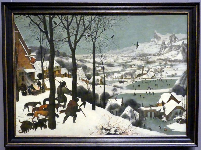 Pieter Brueghel der Ältere (Bauernbrueghel): Jäger im Schnee (Winter), 1565
