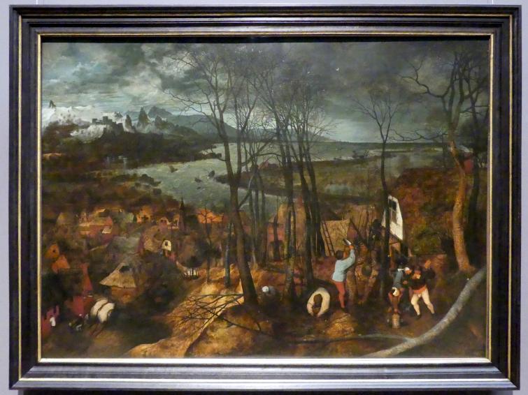 Pieter Brueghel der Ältere (Bauernbrueghel): Der düstere Tag (Vorfrühling), 1565
