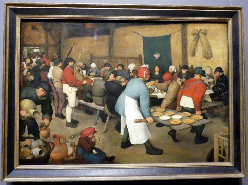 Pieter Brueghel der Ältere (Bauernbrueghel): Bauernhochzeit, um 1568
