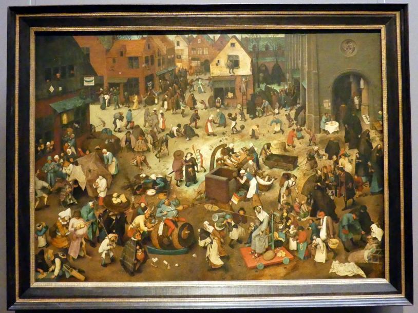Pieter Brueghel der Ältere (Bauernbrueghel): Kampf zwischen Karneval und Fasten, 1559