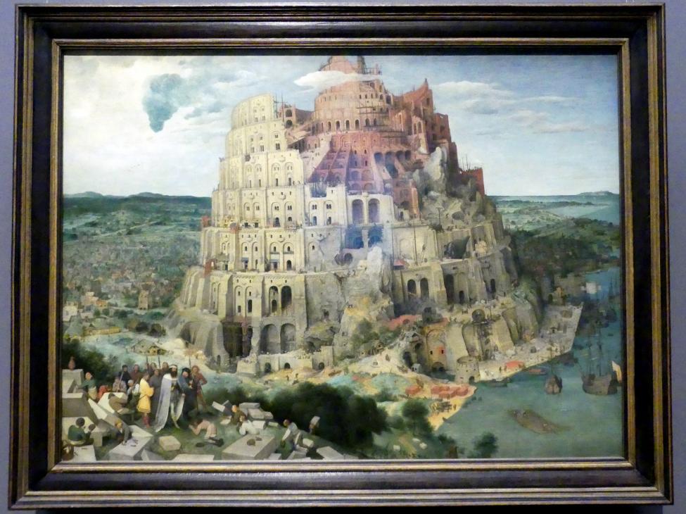 Pieter Brueghel der Ältere (Bauernbrueghel): Turmbau zu Babel, 1563