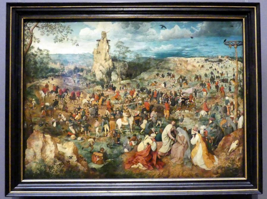 Pieter Brueghel der Ältere (Bauernbrueghel): Kreuztragung Christi, 1564