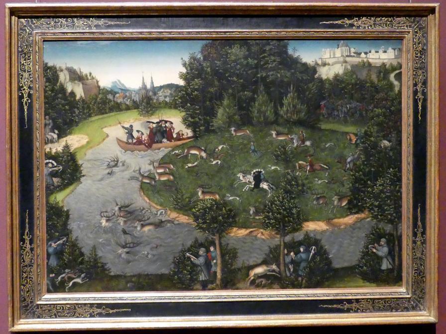 Lucas Cranach der Ältere: Hirschjagd des Kurfürsten Friedrich des Weisen, 1529