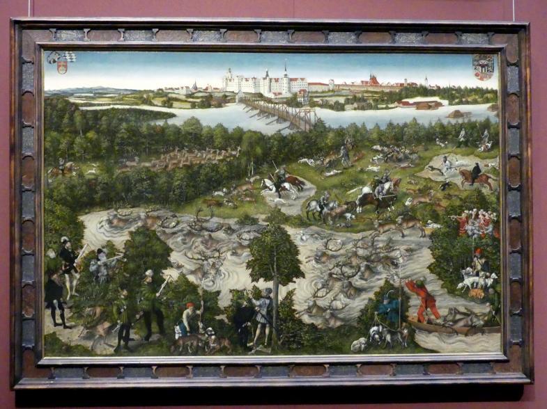 Lucas Cranach der Jüngere: Hirschjagd des Kurfürsten Johann Friedrich, 1544