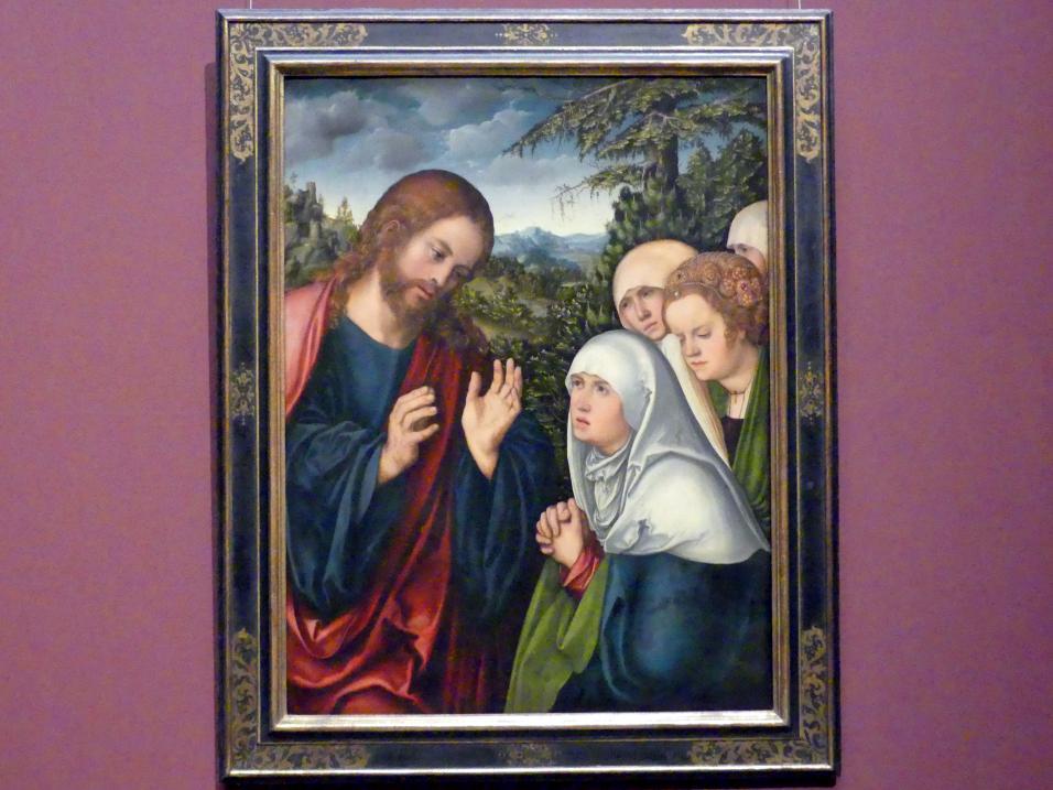 Lucas Cranach der Ältere: Abschied Christi von seiner Mutter, um 1520