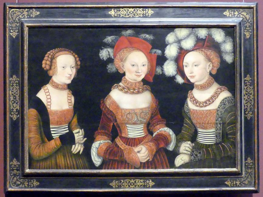 Lucas Cranach der Ältere: Die Prinzessinnen Sibylla, Emilia und Sidonia von Sachsen, um 1535
