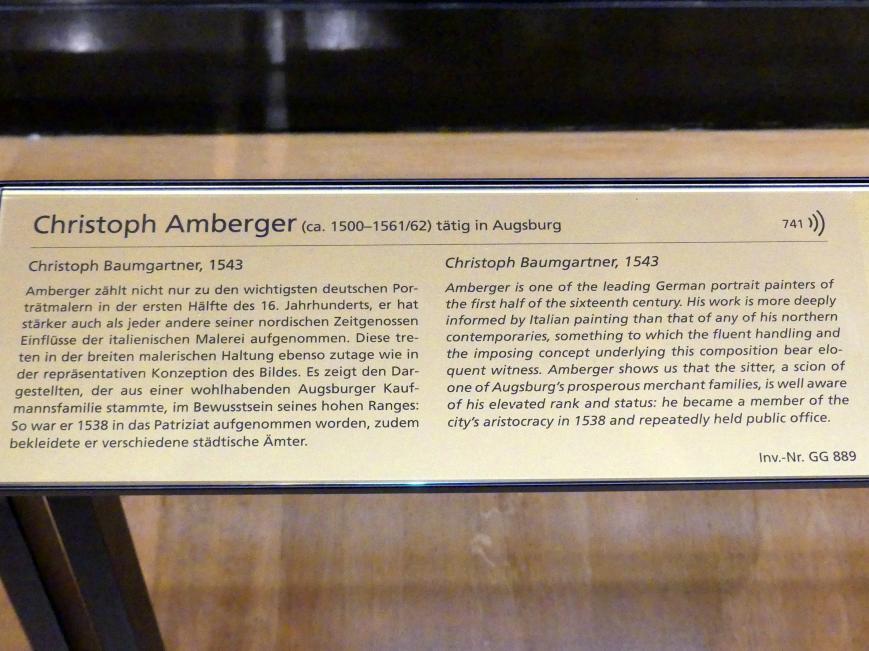 Christoph Amberger: Christoph Baumgartner, 1543, Bild 2/2