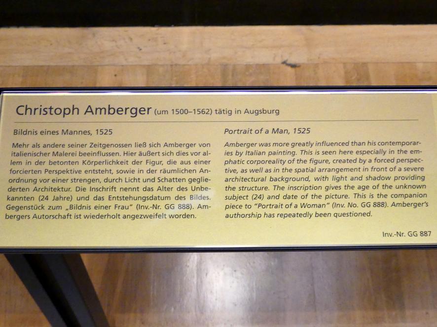 Christoph Amberger: Bildnis eines Mannes, 1525, Bild 3/3