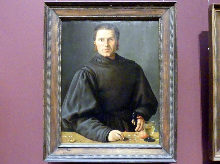 Barthel Beham: Bildnis eines Schiedsrichters oder Rechenmeisters, 1529