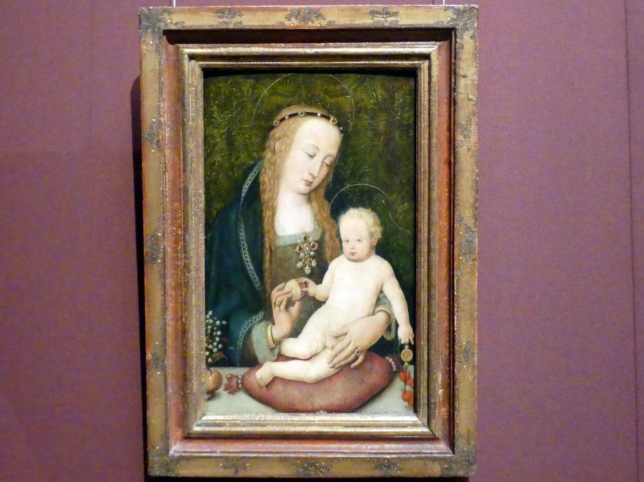 Hans Holbein der Ältere: Maria, dem Kind einen Granatapfel reichend, um 1510 - 1512