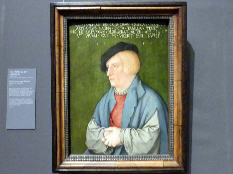 Hans Baldung Grien: Bildnis eines jungen Mannes, 1515