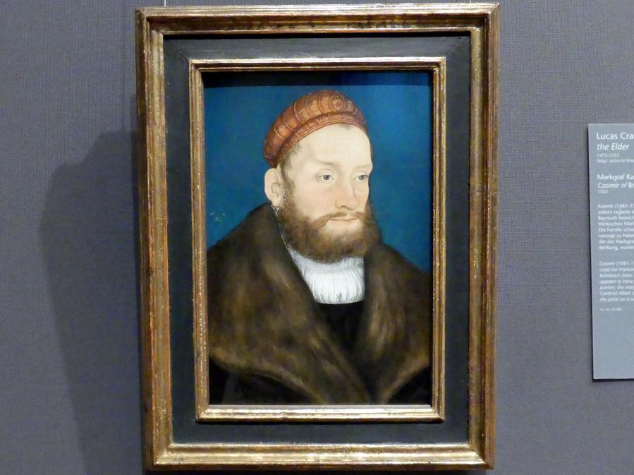 Lucas Cranach der Ältere: Markgraf Kasimir von Brandenburg-Kulmbach, 1522