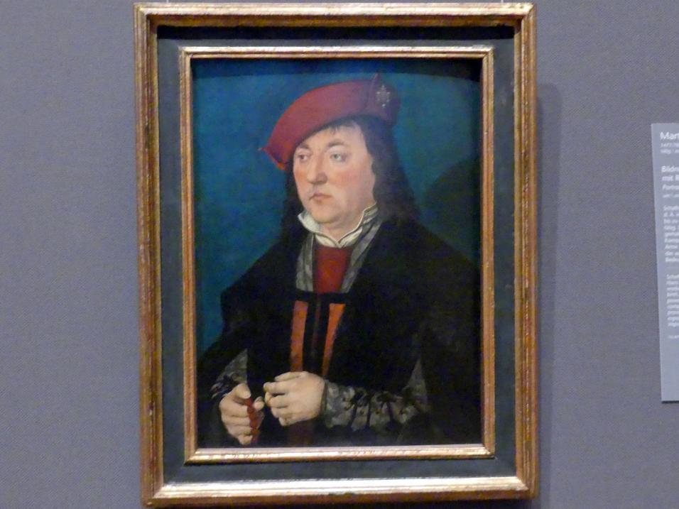 Martin Schaffner: Bildnis eines Mannes mit Rosenkranz, um 1521
