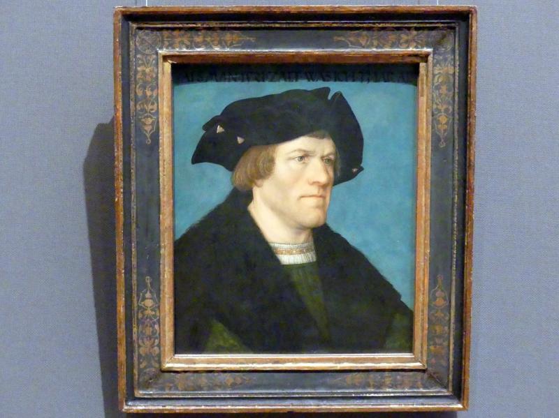 Hans Maler zu Schwaz: Bildnis eines bartlosen Mannes, 1521