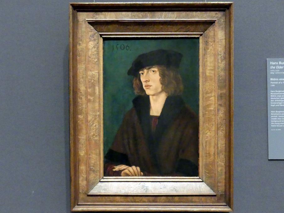 Hans Burgkmair der Ältere: Bildnis eines jungen Mannes, 1506