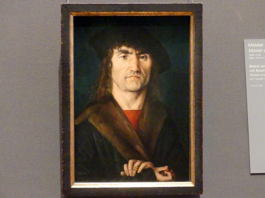 Meister des Hutz-Bildnisses: Bildnis eines Mannes mit Rosenkranz, Um 1505 - 1510