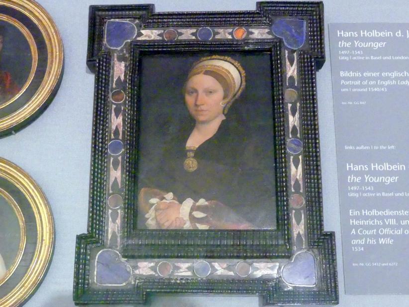 Hans Holbein der Jüngere: Bildnis einer englischen Dame, um 1540 - 1543