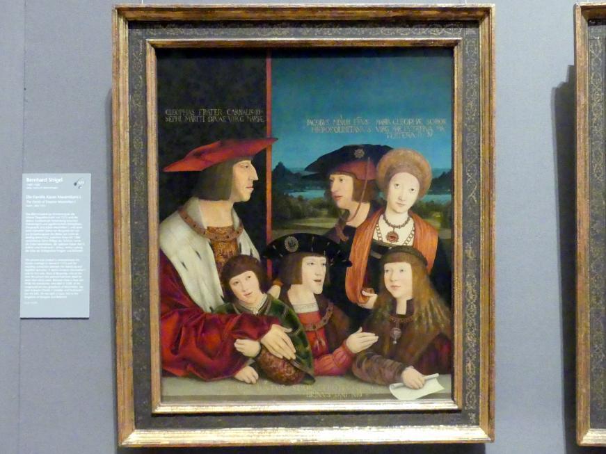Bernhard Strigel: Die Familie Kaiser Maximilians I., nach 1515