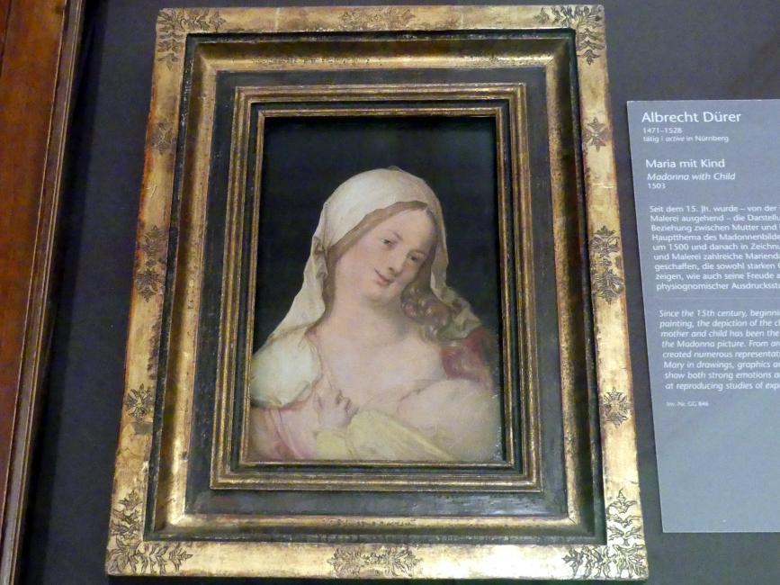 Albrecht Dürer: Maria mit Kind, Um 1503