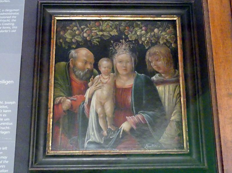 Albrecht Altdorfer: Heilige Familie mit einem Heiligen, 1507 - 1515, Bild 1/2