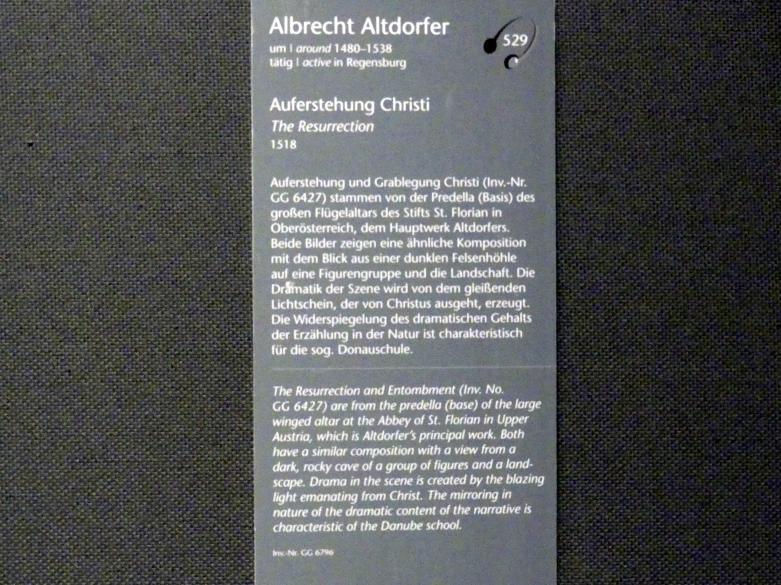 Albrecht Altdorfer: Auferstehung Christi, 1518