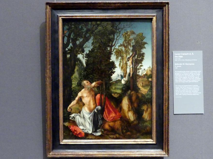 Lucas Cranach der Ältere: Büßender Hl. Hieronymus, 1502