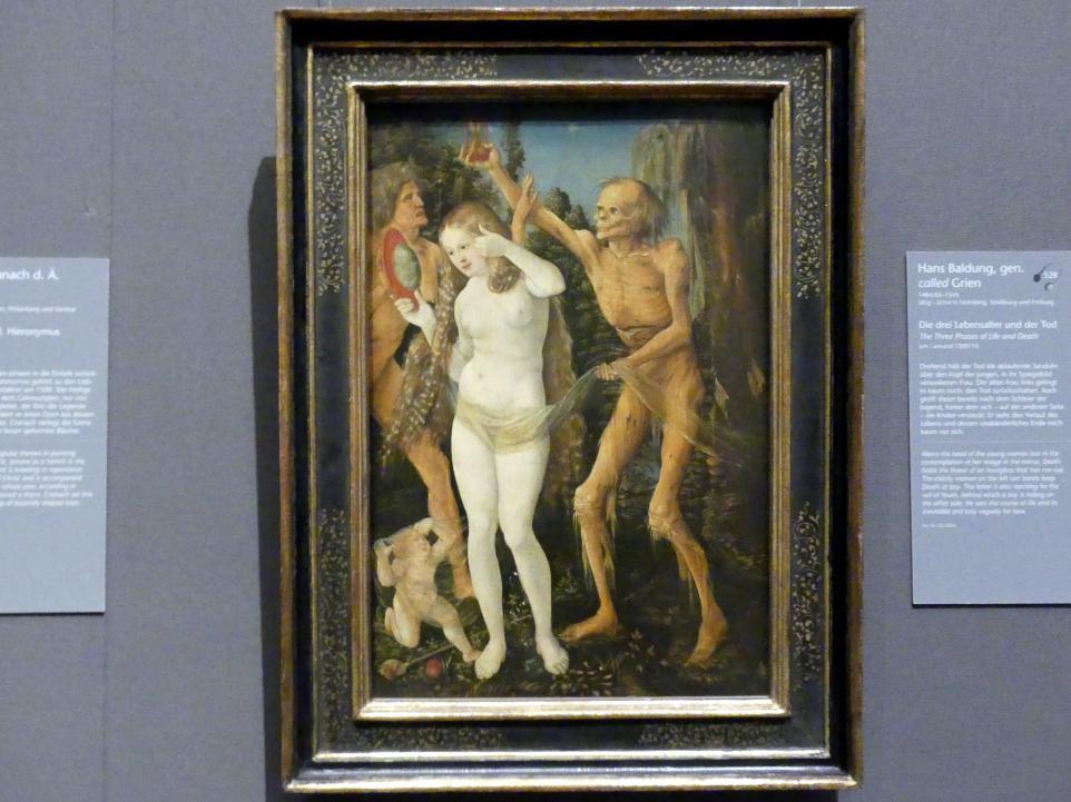 Hans Baldung Grien: Die drei Lebensalter und der Tod, Um 1509 - 1510