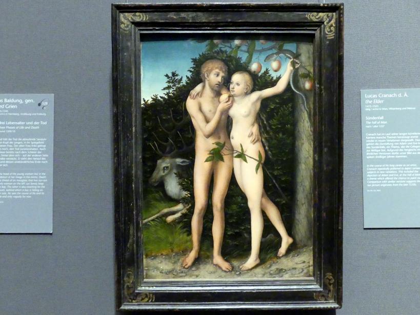 Lucas Cranach der Ältere: Sündenfall, nach 1537