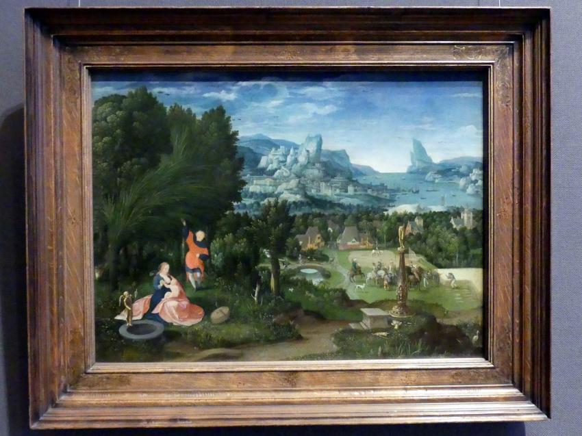 Meister der weiblichen Halbfiguren: Ruhe auf der Flucht nach Ägypten, um 1530
