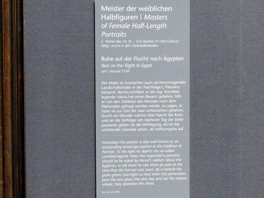 Meister der weiblichen Halbfiguren: Ruhe auf der Flucht nach Ägypten, um 1530, Bild 2/2