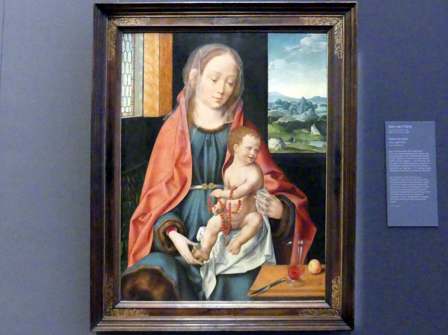 Joos van Cleve (Joos van der Beke): Maria mit Kind, Um 1530